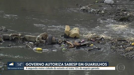 Guarulhos só trata 12% do esgoto gerado; Sabesp vai cuidar do tratamento de água