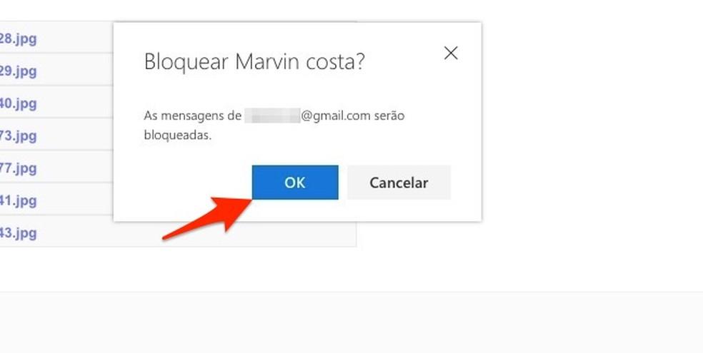Ação para bloquear um remetente de e-mails no Outlook — Foto: Reprodução/Marvin Costa