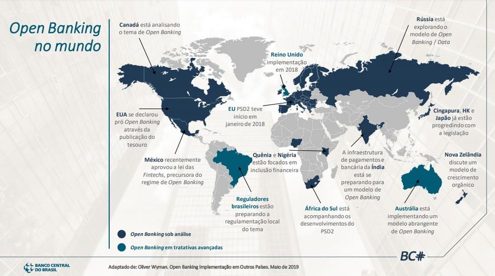 Diversos países já iniciaram a ideia do open banking — Foto: Divulgação/Banco Central do Brasil