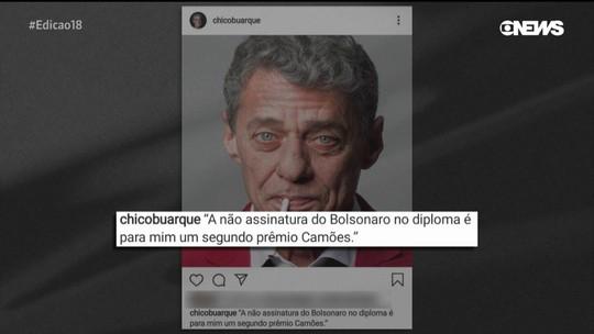 Chico Buarque sobre ameaça de Bolsonaro não assinar prêmio em seu nome: 'É um 2º prêmio'