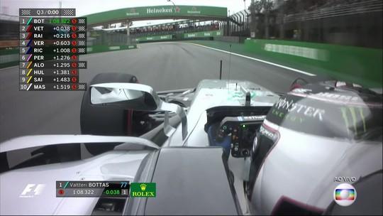 Hamilton bate, Bottas aproveita e anota pole no GP do Brasil. Massa larga em 9º