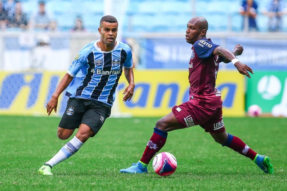 Alisson entrou aos 14 do segundo tempo e pouco contribuiu (Foto: Lucas Uebel/Grêmio/Divulgação)