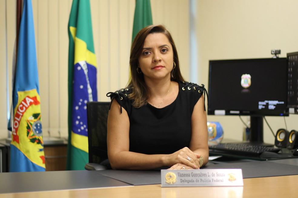 Delegada Vanessa Gonçalves é a nova superintendente da Polícia Federal no Ceará (Foto: Polícia Federal/Divulgação)