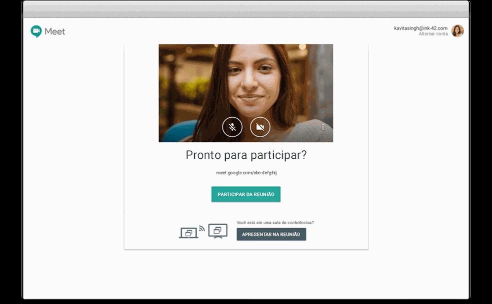 Conversas do Hangouts serão migradas para o novo Google Chat até a metade de 2021 — Foto: Divulgação/Hangouts Meet