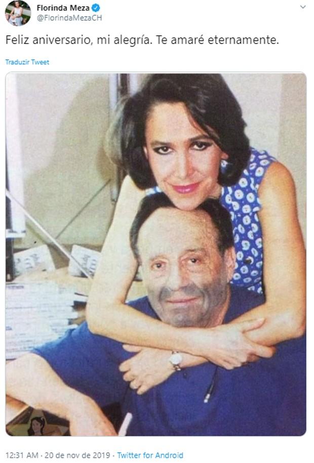 Florinda Meza e Roberto Bolaños (Foto: Reprodução/Twitter)