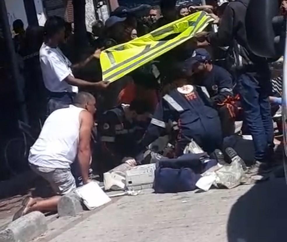 Homem fica gravemente ferido após cair de patinete elétrico no Centro de Belo Horizonte — Foto: Reprodução/Redes Sociais