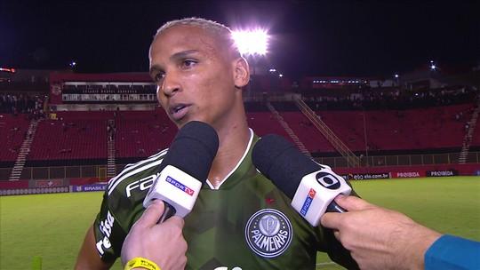 """Deyverson toma bronca de capitão do Palmeiras e agradece: """"Foi importante"""""""