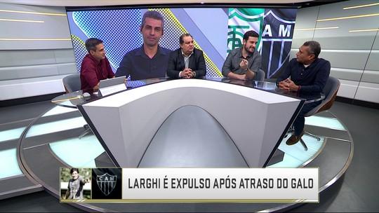 Comentaristas debatem atitude do árbitro no 2º tempo do clássico América-MG x Atlético-MG