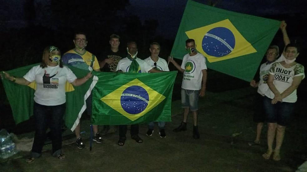 Manifestantes fazem ato a favor de Bolsonaro em Porto Velho, RO — Foto: Reprodução/Redes Sociais