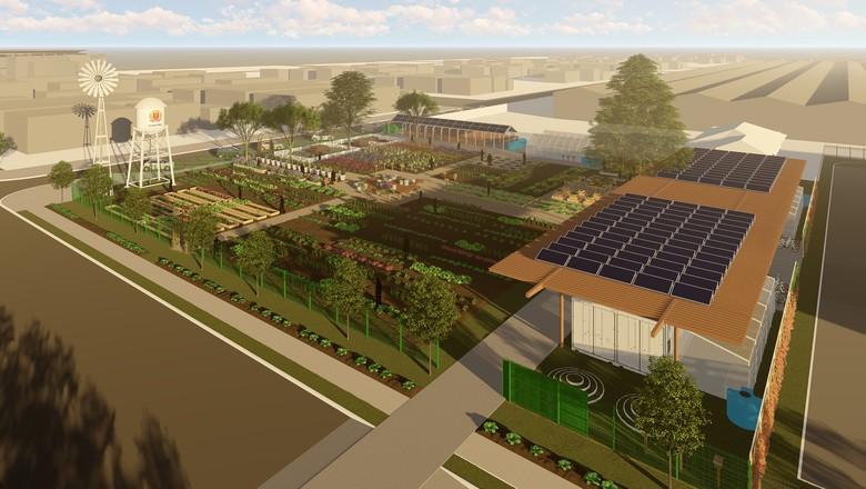 O projeto da Fazenda Urbana de Curitiba foi apresentado ao prefeito Rafael Greca, no Instituto de Pesquisa e Planejamento Urbano de Curitiba (Ippuc).Foto: Divulgação (Foto: Divulgação)