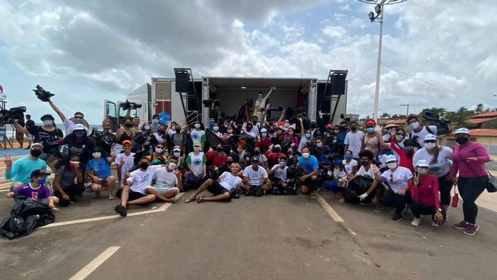 Conecta Surf ocorreu durante dois dias na praia do Olho d'Água, com diversas ações entre parceiros — Foto: Divugação