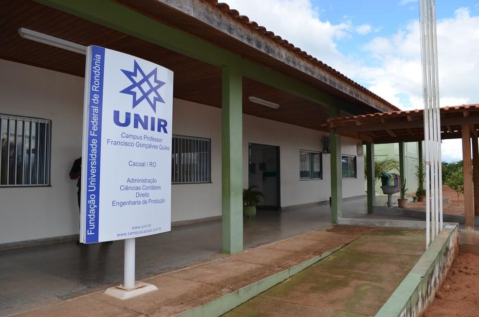 Unir Cacoal, onde o processo seletivo será realizado — Foto: Magda Oliveira/ Arquivo/ G1