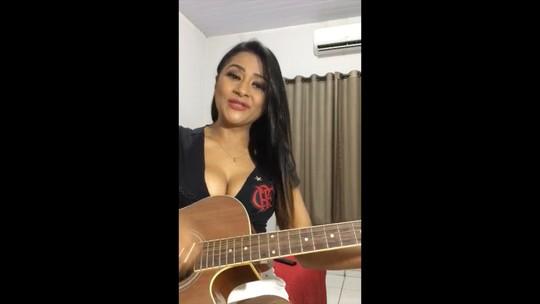 Vídeo de torcedora do Fla cantando hino da torcida viraliza na web; assista