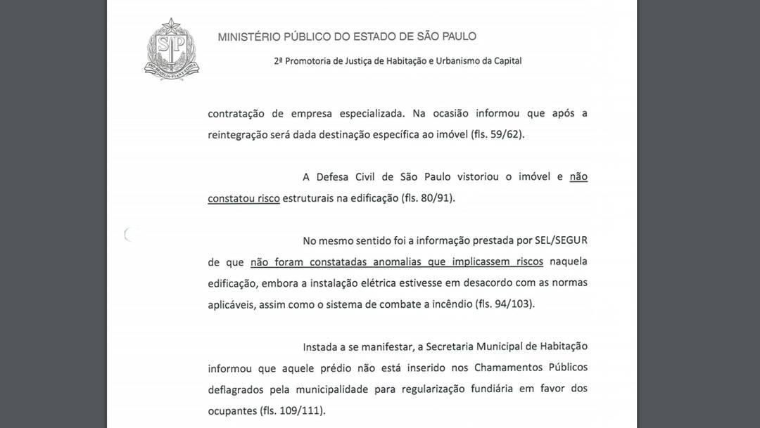 Defesa Civil afirmou que prédio que desabou no Centro de São Paulo não tinha riscos estruturais