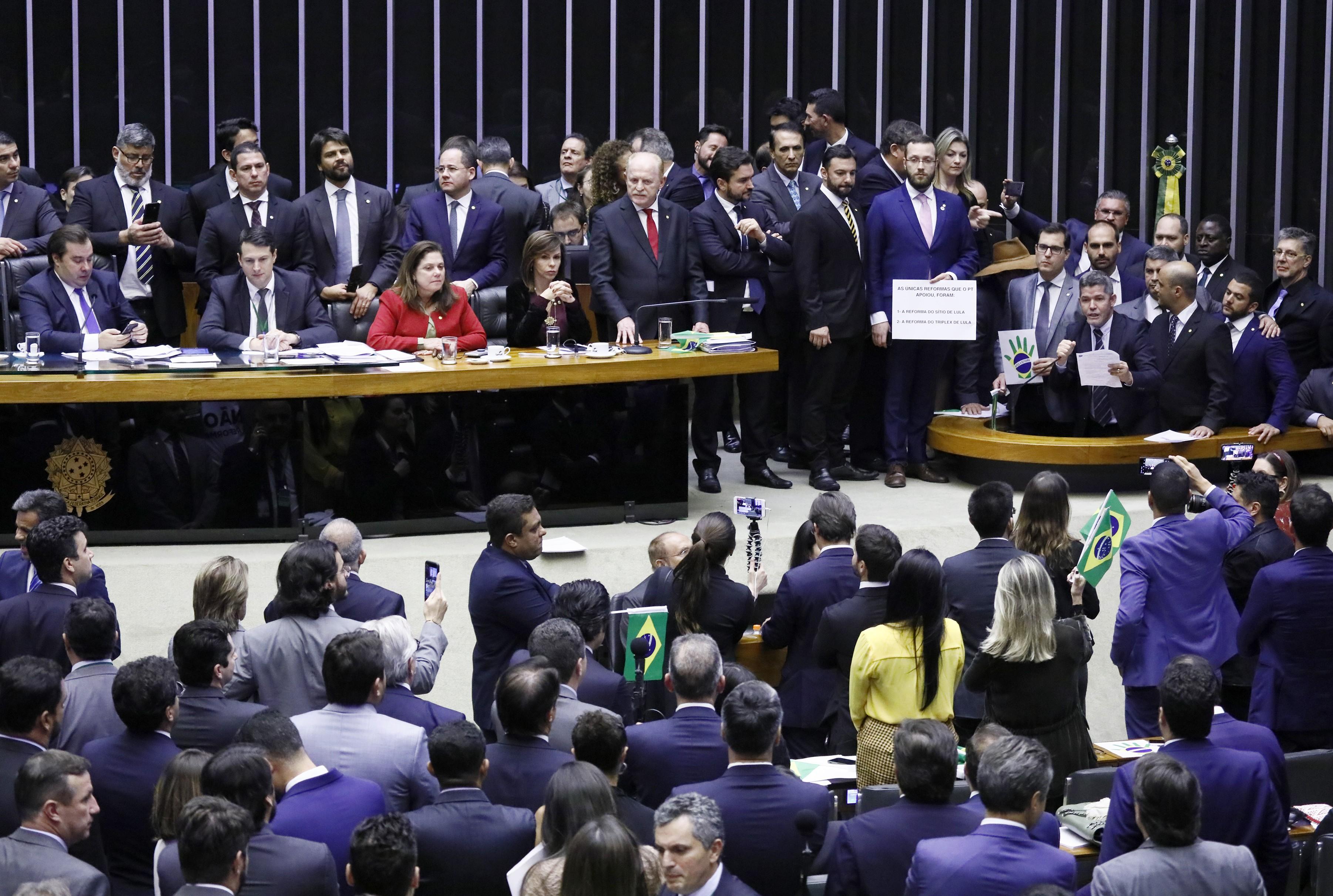 Votação do texto-base da PEC 6/2019 - Reforma da Previdência plenário (Foto: Luis Macedo/Câmara dos Deputados)