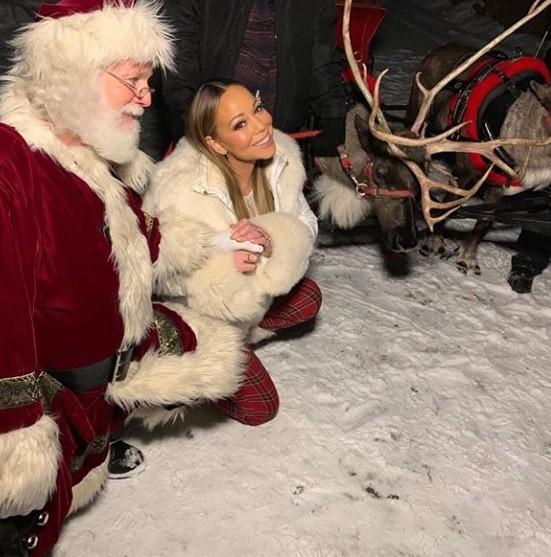 Mariah e papai noel neste Natal (Foto: Instagram)