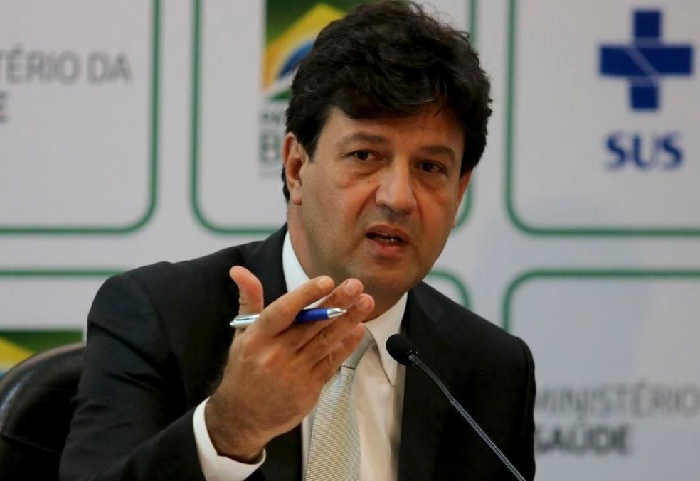O ministro da Saúde, Luiz Henrique Mandetta — Foto: Wilson Dias/Agência Brasil