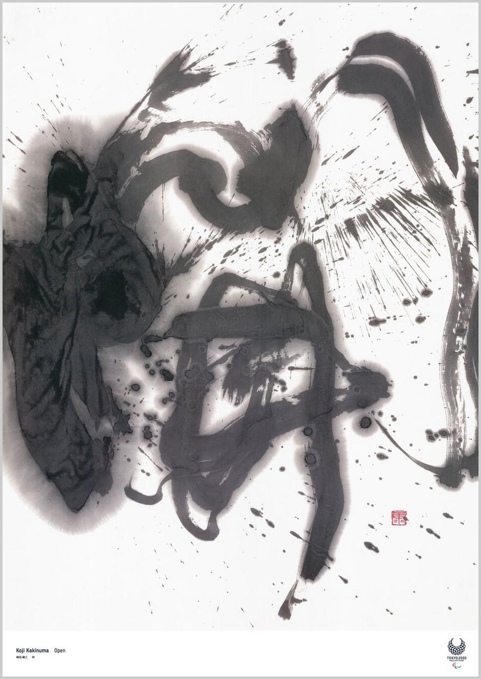 Koji Kakinuma / Caligrafista — Foto: Reprodução
