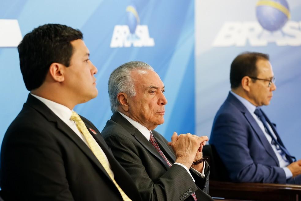 O presidente Michel Temer durante anúncio da ampliação dos saques do fundo PIS-Pasep. (Foto: Cesar Itiberê/Presidência da República)