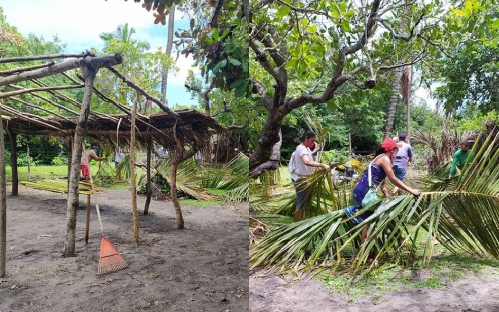 A barreira sanitária começou a ser reconstruída em Itapipoca. — Foto: Arquivo pessoal