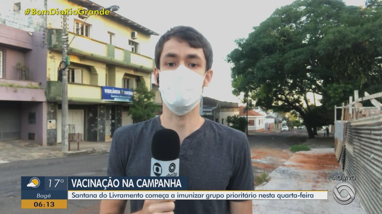 Santana do Livrameno começa a vacinação contra a Covid-19 nesta quarta-feira (20)