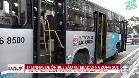 Alteração no trajeto de 17 linhas de ônibus na Zona Sul de São Paulo