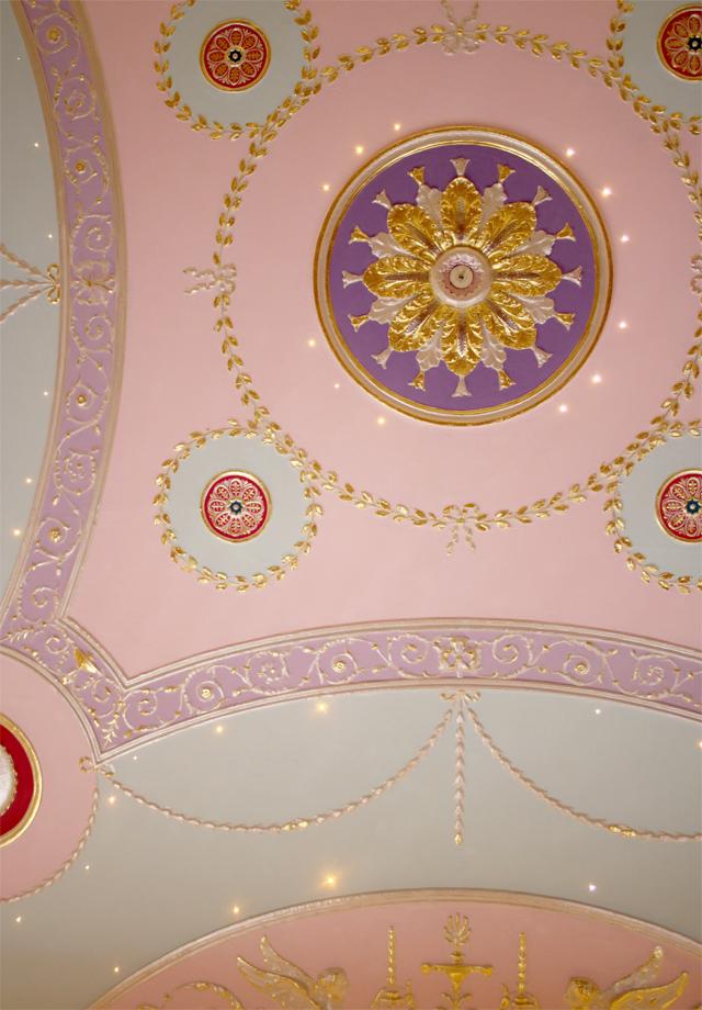 Detalhes do teto do The Lecture Room (Foto: Divulgação)
