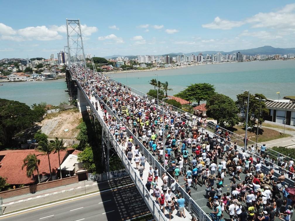 FOTOS: Reabertura da Ponte Hercílio Luz, em Florianópolis | Santa Catarina  | G1