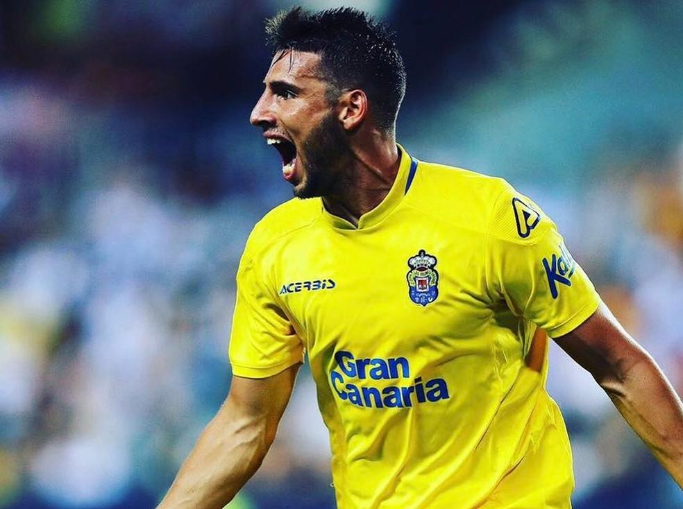 Calleri atualmente defende o Las Palmas — Foto: Instagram