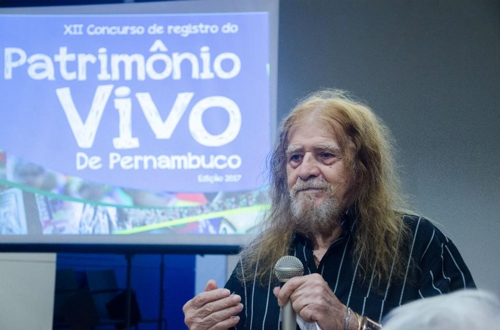 Ator e diretor José Pimentel foi uma das personalidades escolhidas como patrimônio vivo de Pernambuco em 2018 (Foto: Jan Ribeiro/Secult-PE/Divulgação)