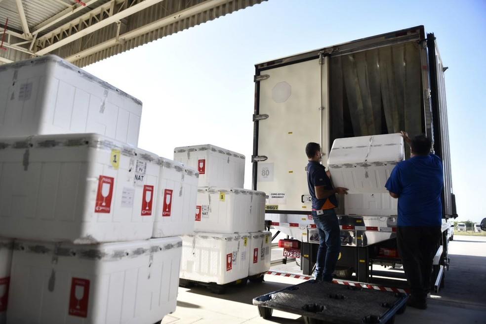 A remessa será organizada na Unidade Central de Agentes Terapêuticos (Unicat) e entregue aos municípios — Foto: Elisa Elsie/Assecom/Governo do RN
