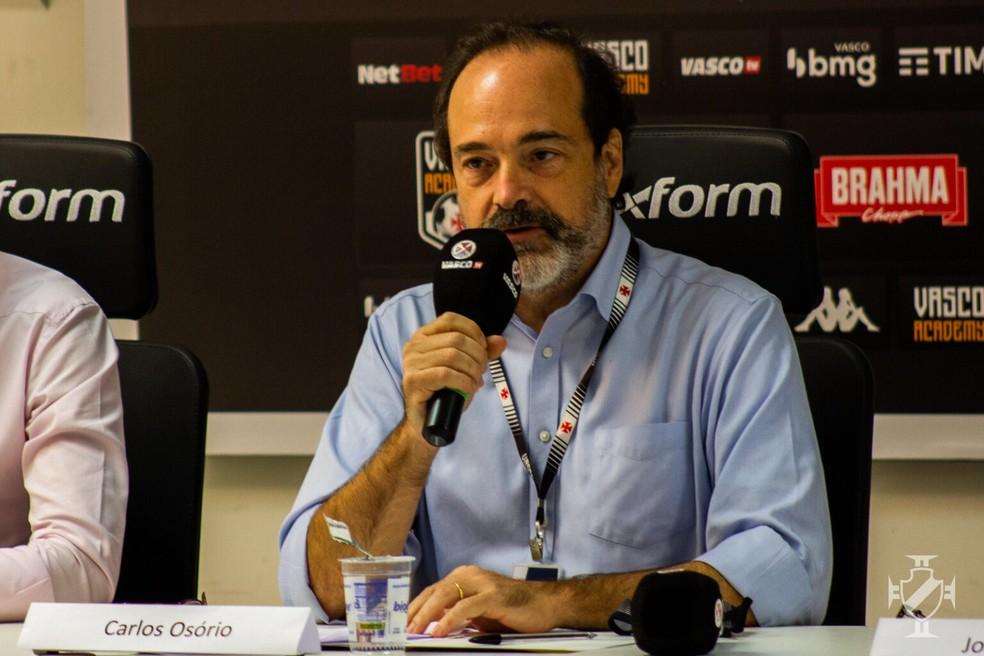 Carlos Roberto Osório criticou postura da Ferj — Foto: João Pedro Isidro/Vasco