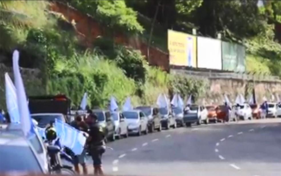 Grupo reivindica inclusão na lista de prioridades da vacinação contra a Covid-19 — Foto: Divulgação/Sindicato dos Bancários da Bahia