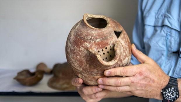 Cientistas israelenses recriam a 'cerveja dos faraós'  (Foto:  Yaniv Berman / Cortesia da Autoridade de Antiguidades de Israel)