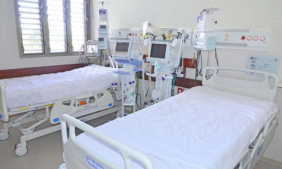 Leitos de UTI em hospital da rede pública — Foto: Esequias Araújo/Governo do Tocantins