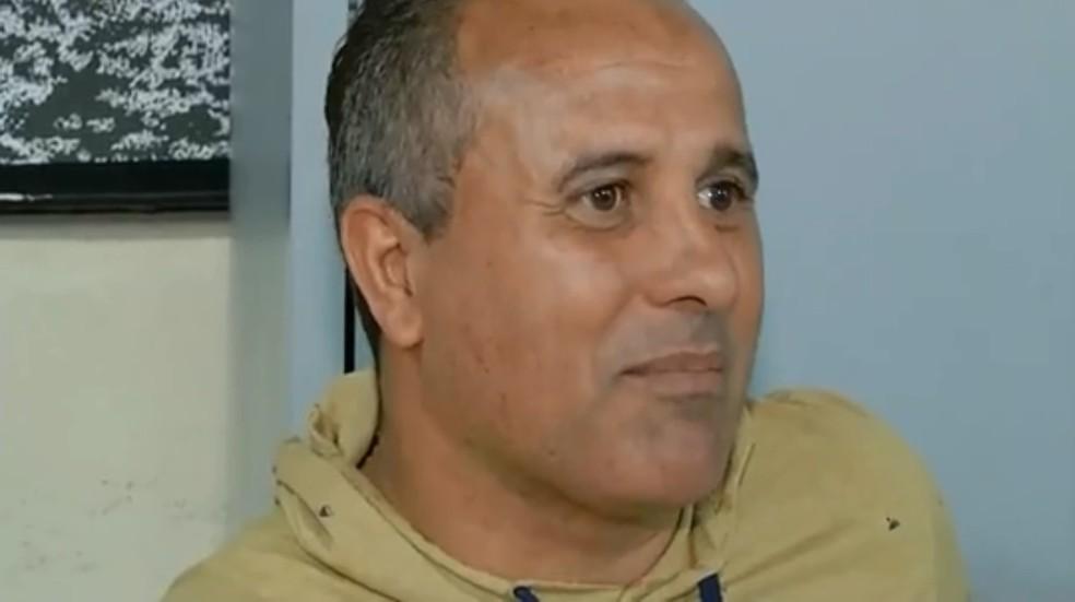 Rogério, ex-lateral do Corinthians foi preso (Foto: Reprodução/TV TEM)