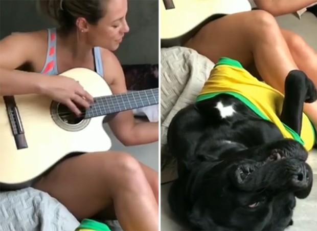 Paolla Oliveira e Marley (Foto: Reprodução/Instagram)