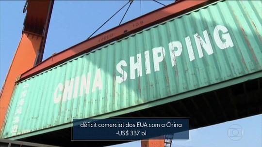 Trump anuncia tarifa de importação para produtos chineses