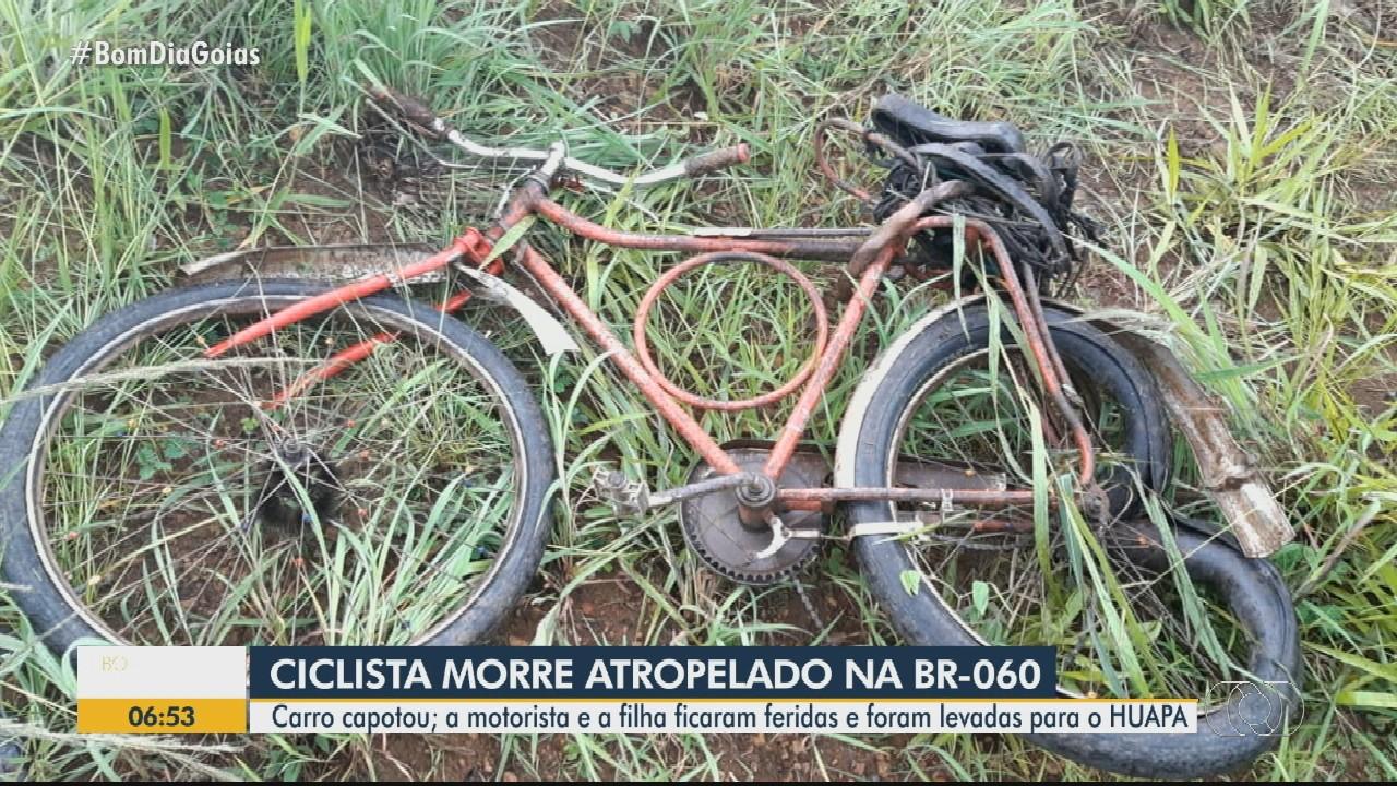 Ciclista morre depois de ser atropelado na BR-060, em Anápolis