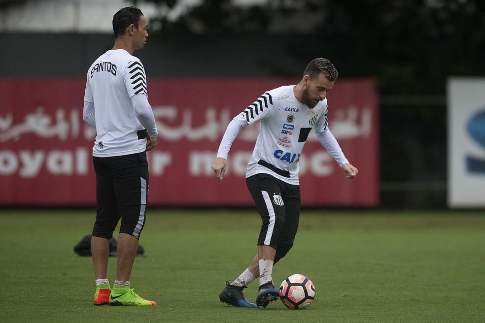 eecaf5fd04 ... Ricardo Oliveira e Lucas Lima têm contrato com o Santos até o fim deste  ano —