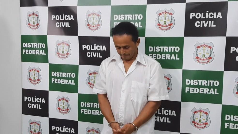 Marinésio dos Santos Olinto, autor confesso de dois assassinatos — Foto: TV Globo/Reprodução