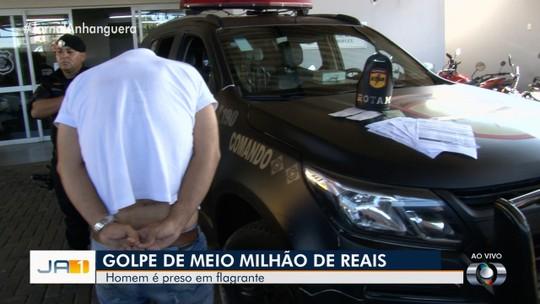 Homem é preso suspeito de tentar aplicar golpe de quase 600 mil com cheques roubados na compra de casa, em Goiânia