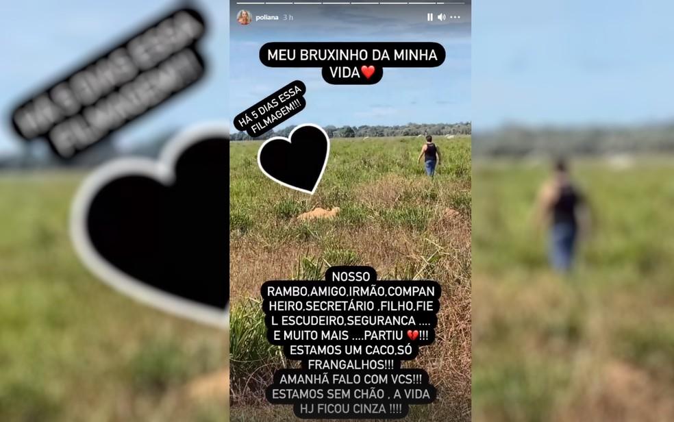 Poliana Rocha publica homenagem a Passim, assessor e amigo dela e de Leonardo — Foto: Reprodução/Instagram