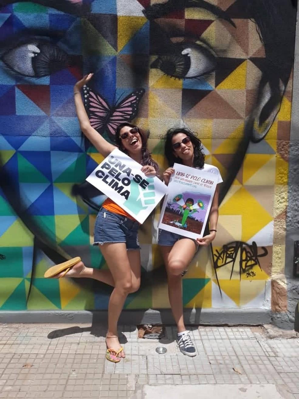 Giselli e Gabriela precisam de ajuda para participar de evento da ONU que vai acontecer na Espanha — Foto: Divulgação