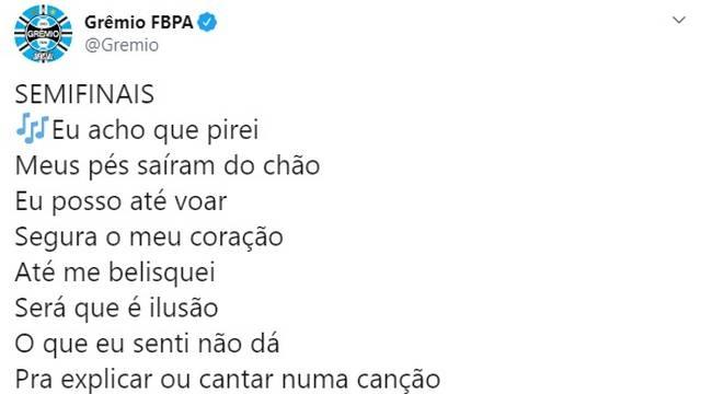 Grêmio zoa o Palmeiras após a vitória