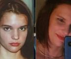 Monica Siedler como Socorro, no ano 2000, e em fase atual | Reprodução e acervo pessoal