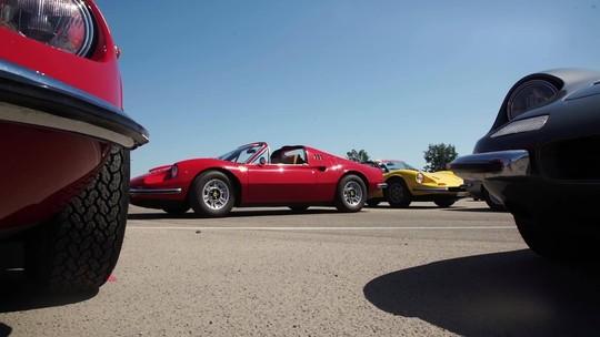 Encontro histórico comemora 50 anos da Ferrari Dino em Maranello