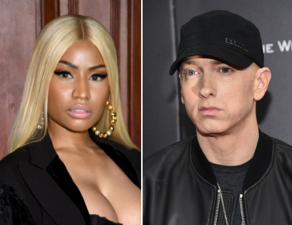 A cantora Nicki Minaj e o rapper Eminem (Foto: Getty Images)