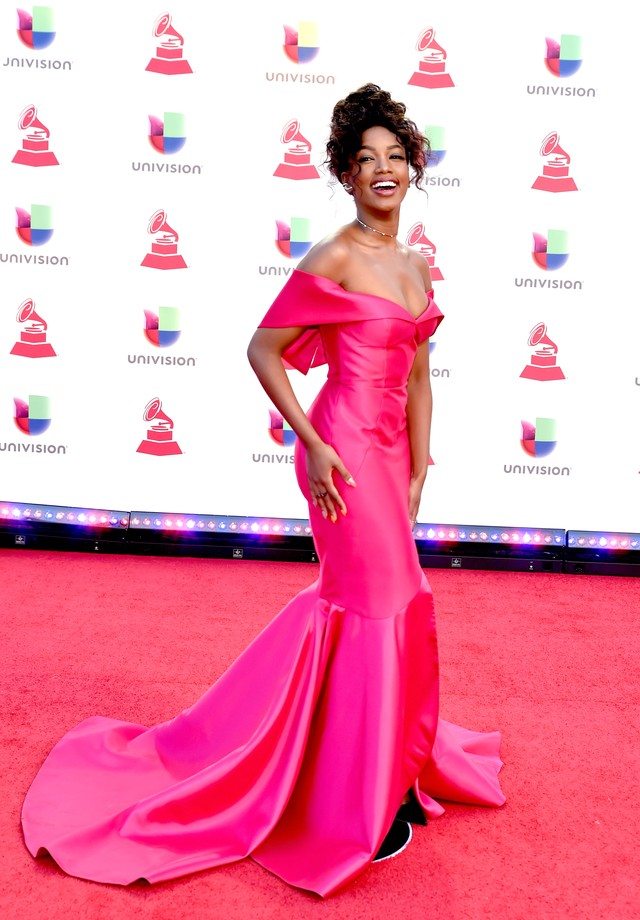Iza de Apartamento 03 no Grammy Latino (Foto: Getty Images)