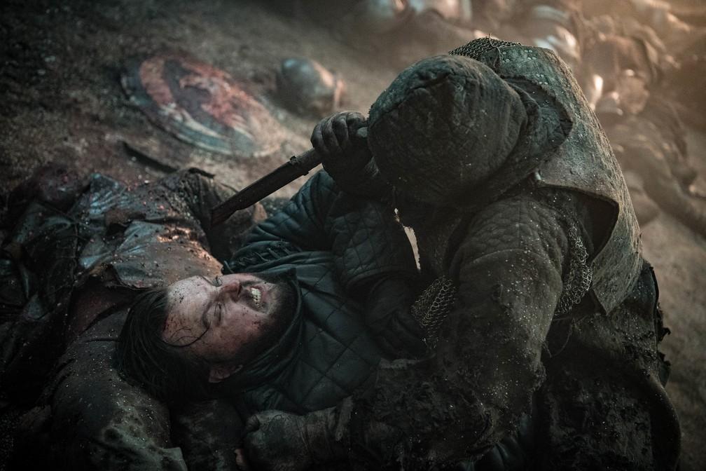 Cena de Game of Thrones com Samwell Tarly, vivido por John Bradley-West — Foto: Divulgação/HBO